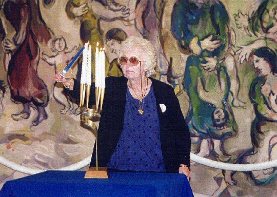 Fanny Englard in der Knesset