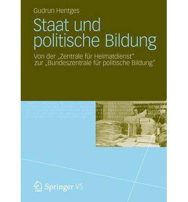 Gudrun Hentges: Staat und politische Bildung